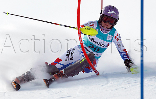 29.01.2012.  Ski Alpine FIS WC St Moritz Super Combination women  Ski Alpine FIS World Cup Super combination for women Slalom Picture shows Tessa Worley FRA