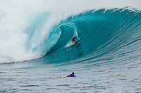 CLOUDBREAK, Tavarua/Fiji (Friday, June 8, 2012) stephan-figuieredo (BRA). -  The best day of paddle surfing ever seen at Cloudbreak happen today with the swell in the12'-15' range from the south.  The surf pumped all day with amazing performances from of the world best big wave paddle in surfers. The Volcom Fiji Pro completed the last two heats of Round Two with Bede Durbidge and Kai Otten advancing before being call off for the day. Photo: joliphotos.com