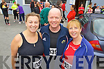 Pictured at the Carers 10k run on Sunday were l-r: Maureen Keenan, Brian Whyte and Lorna Whyte (all Tralee).