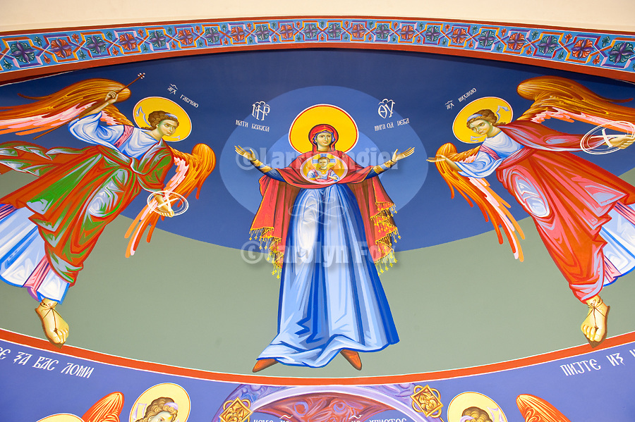 Iconography by Miloje Milinkovic at St. Petka Serbian Orthodox Church, San Marcos, CA