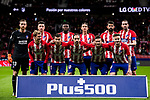 Players of Atletico de Madrid line up and pose for a photo prior to the La Liga 2017-18 match between Atletico de Madrid and CD Leganes at Wanda Metropolitano on February 28 2018 in Madrid, Spain. Photo by Diego Souto / Power Sport Images