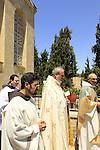 Israel, Jerusalem, Feast of the Visitation at the Church of the Visitation in Ein Karem
