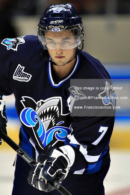 QMJHL (LHJMQ) hockey player profile photo on Rimouski Oceanic Sébastien Piche September 19, 2008 at the Colisee Pepsi in Quebec city.
