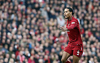 Liverpool's Virgil van Dijk<br /> <br /> Photographer Rich Linley/CameraSport<br /> <br /> The Premier League - Liverpool v Manchester City - Sunday 7th October 2018 - Anfield - Liverpool<br /> <br /> World Copyright &copy; 2018 CameraSport. All rights reserved. 43 Linden Ave. Countesthorpe. Leicester. England. LE8 5PG - Tel: +44 (0) 116 277 4147 - admin@camerasport.com - www.camerasport.com