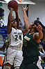 Elena Randolph #24 of Baldwin, left, drives to the net against Longwood during the Chanee Monique Brown Memorial Tournament at Baldwin High School on Friday, Dec. 28, 2018. Baldwin won by a score of 56-47.