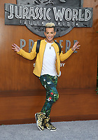 LOS ANGELES, CA - JUNE 12: Frankie J. Grande, at Jurassic World: Fallen Kingdom Premiere at Walt Disney Concert Hall, Los Angeles Music Center in Los Angeles, California on June 12, 2018. <br /> CAP/MPIFS<br /> &copy;MPIFS/Capital Pictures