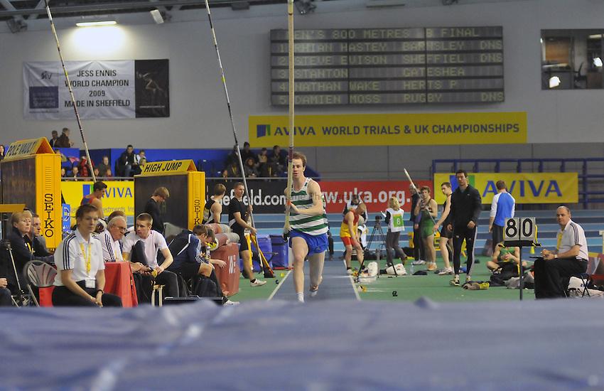 Photo: Tony Oudot/Richard Lane Photography. Aviva World Trials & UK Championships. 14/02/2010. .Mens Pole Vault, .Alasdair Strange.