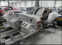 BNPS.co.uk (01202 558833)<br /> Pic: ClassicMotorCars/BNPS<br /> <br /> One of the very first Jaguar E-Type cars ever built has been rediscovered - in hundreds of pieces. <br /> <br /> The broken motor was unearthed in a garage in France and has since been shipped to the UK where it will be put back together again like a jigsaw. <br /> <br /> The restoration will cost a six figure sum and take two years as virtually every inch of the vintage car needs repair. <br /> <br /> However, experts say the motor could be worth up to &pound;500,000 once restored by specialists at Shropshire-based Classic Motor Cars.