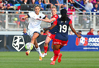 Boyds, MD - Saturday May 07, 2016: Portland Thorns FC midfielder Allie Long (10) and Washington Spirit midfielder Joanna Lohman (15) during a regular season National Women's Soccer League (NWSL) match at Maureen Hendricks Field, Maryland SoccerPlex. Washington Spirit tied the Portland Thorns 0-0.