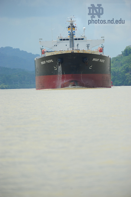 Panama Canal shipping..Photo by Matt Cashore/University of Notre Dame