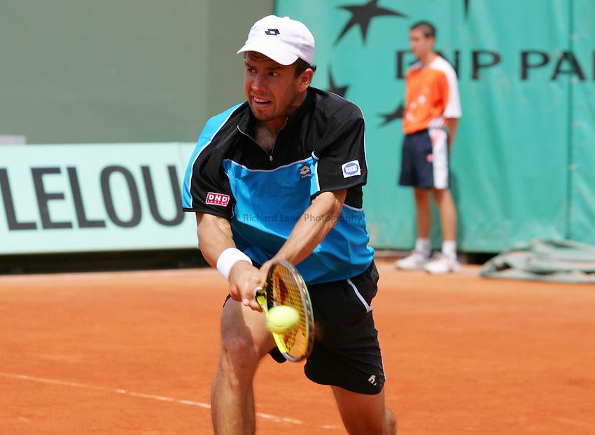 Photo: Iconsport/Richard Lane Photography..Roland Garros 2006..03/06/2006..Dominik Hrbaty.