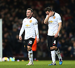Manchester United's Wayne Rooney looks on dejected at the final whistle<br /> <br /> Barclays Premier League- West Ham United vs Manchester United  - Upton Park - England - 8th February 2015 - Picture David Klein/Sportimage