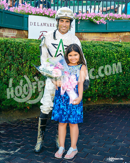 Dainel Centeno & Jasmine after The Delaware Oaks (gr 3) at Delaware Park on 7/9/16