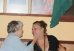 """AC's mom Julia chats with her daughter in law One Life To Live Kim Zimmer who stars as """"Norma Desmond"""" in Sunset Boulevard on September 2, 2011 at the Barn Theatre in Augusta, Michigan. (Photo by Sue Coflin/Max Photos)"""