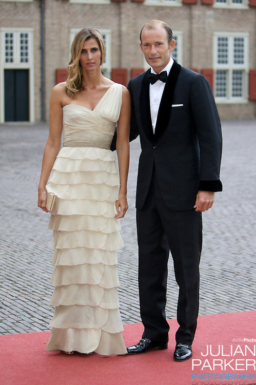 Prince Kyril, and Princess Rosario of Bulgaria, arrive for a Reception at Het Loo Palace in Apeldoorn, to celebrate the 40th Birthday of Crown Prince Willem Alexander, The Prince turned forty in April earlier this year.