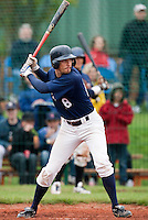 10 october 2009: Chris Goniot of Savigny is seen at bat during game 4 of the 2009 French Elite Finals won 7-2 by Huskies of Rouen over Lions of Savigny, at Stade Jean Moulin stadium in Savigny sur Orge, near Paris, France. Rouen wins the 2009 France championship, his sixth title.