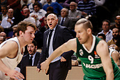 22nd March 2018, Wizink Centre, Madrid, Spain; Turkish Airlines Euroleague Basketball, Real Madrid versus Zalgiris Kaunas; Pablo Laso Coach of Real Madrid Baloncesto