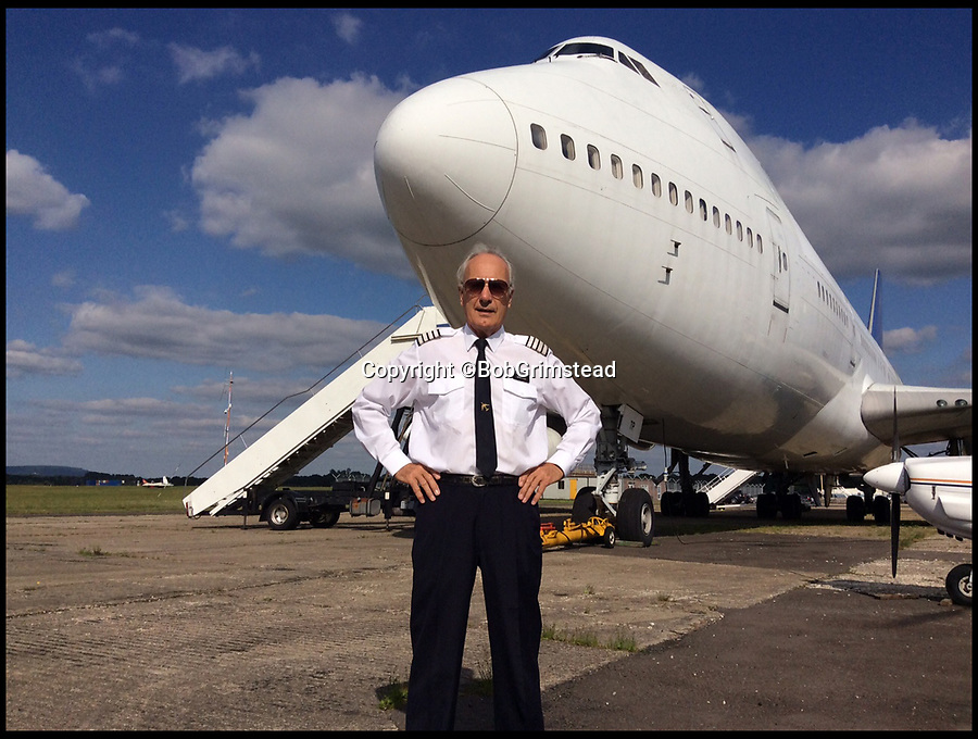 BNPS.co.uk (01202 558833)<br /> Pic:  BobGrimstead/BNPS<br /> <br /> Bob in front of a 747-400.<br /> <br /> My other planes a 747...!<br /> <br /> Former British Airways pilot Bob Grimstead(70) gets to grips with the worlds smallest twin jet aircraft.<br /> <br /> These remarkable photos capture the world's smallest twin-jet which resembles a 'bubble car on wings' taking to the skies.<br /> <br /> British pilot Bob Grimstead, 70, reached speeds of up to 140mph and climbed to 5,000ft in the Colomban Jet Cri-Cri.<br /> <br /> His wife Karen, 62, was in an aircraft next to him to take these snaps as he indulged in some aerial acrobatics, including several loops and rolls and a dramatic dive.<br /> <br /> The jet, which is almost entirely made of aluminium, is just 13ft long, 4ft wide and has a wingspan of 17ft, while weighing in at a paltry 180lb.<br /> <br /> Mr Grimstead, who lives in Sussex, has flown aircraft for 50 years and worked as a commercial pilot. He flew enormous Boeing 747s, which are at the complete opposite end of the size spectrum, weighing 400 tonnes when full of passengers and measuring 230ft in length, with a 210ft wingspan and a cabin width of 20ft.