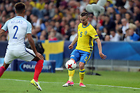Mason Holgate of England   and Adam Lundqvist of Sweden during Sweden Under-21 vs England Under-21, UEFA European Under-21 Championship Football at The Kolporter Arena on 16th June 2017