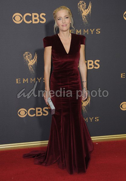 17 September  2017 - Los Angeles, California - Gillian Anderson. 69th Annual Primetime Emmy Awards - Arrivals held at Microsoft Theater in Los Angeles. Photo Credit: Birdie Thompson/AdMedia