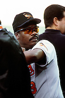 Eddie Murray of the Baltimore Orioles during a game against the Anaheim Angels at Angel Stadium circa 1999 in Anaheim, California. (Larry Goren/Four Seam Images)