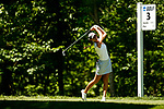 STILLWATER, OK - MAY 21: Cheyenne Knight of Alabama tees off at the 3rd during the Division I Women's Golf Individual Championship held at the Karsten Creek Golf Club on May 21, 2018 in Stillwater, Oklahoma. (Photo by Shane Bevel/NCAA Photos via Getty Images)