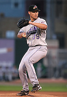 Akron Aeros Dan Denham during an Eastern League game at Jerry Uht Park on June 28, 2006 in Erie, Pennsylvania.  (Mike Janes/Four Seam Images)