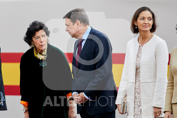 Isabel Celaa attends to Spanish National Day military parade in Madrid, Spain. October 12, 2018. (ALTERPHOTOS/A. Perez Meca)