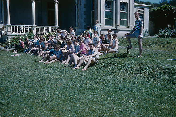 group of youths sittin the lawn Adare camp 17-19/11/1961