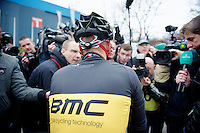 Fleche Wallonne 2012..media magnet Philippe Gilbert