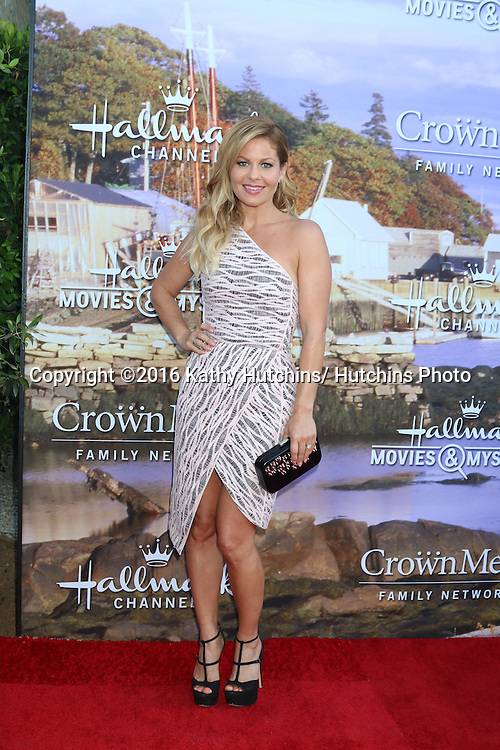 LOS ANGELES - JUL 27:  Candace Cameron Bure at the Hallmark Summer 2016 TCA Press Tour Event at the Private Estate on July 27, 2016 in Beverly Hills, CA