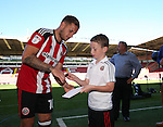 Billy Sharp signs autographs during the 2016/17 Photo call at Bramall Lane Stadium, Sheffield. Picture date: September 8th, 2016. Pic Simon Bellis/Sportimage