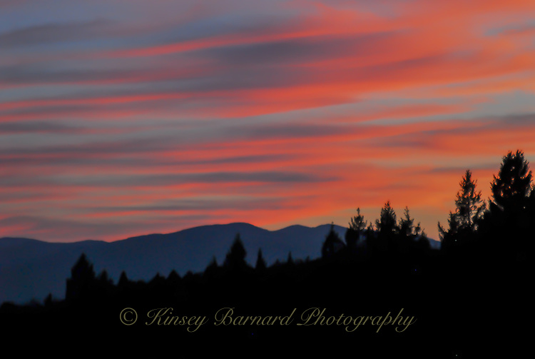 Sunset over the West Kootenai