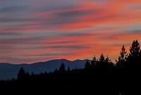 Sunset over the West Kootenai