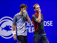 Rotterdam, Netherlands, December 15, 2017, Topsportcentrum, Ned. Loterij NK Tennis, Doubles: Robin Haase (NED) and Matwé Middelkoop (NED) (R)<br /> Photo: Tennisimages/Henk Koster