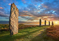 The Ring of Brodgar  ( circa 2,500 to circa 2,000 BC) is a Neolithic henge and stone circle or henge, the largest and finest stone circles in the British Isles, Mainland Orkney, Scotland