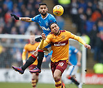 31.3.2018: Motherwell v Rangers: <br /> Daniel Candeias and Charles Dunne
