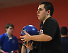 Frank Iemma of Plainedge gets ready to roll during the Nassau County varsity boys bowling individual championship and state qualifier at AMF Garden City Lanes on Saturday, Feb. 10, 2018.