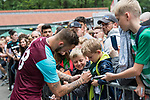 29.07.2017, Heinz-Dettmer-Stadion, Lohne, GER, FSP, SV Werder Bremen vs West Ham United<br /> <br /> im Bild<br /> Marko Arnautovic (West Ham #18) gibt Autogramme, unterschreibt ein Werder Trikot / Marko Arnautovic (West Ham #18) signing autographs, signing a Werder Bremen jersey, <br /> <br /> Foto &copy; nordphoto / Ewert