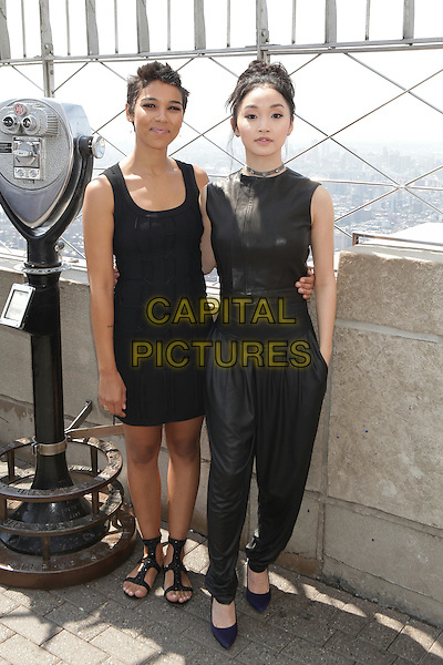 NEW YORK, NY - MAY 25: Alexandra Shipp and Lana Condor promote 'X-MEN: Apocalypse' at the Empire State Building on May 25, 2016 in New York City. Credit: Diego Corredor/Media Punch<br /> CAP/MPI/DIE<br /> &copy;DIE/MPI/Capital Pictures