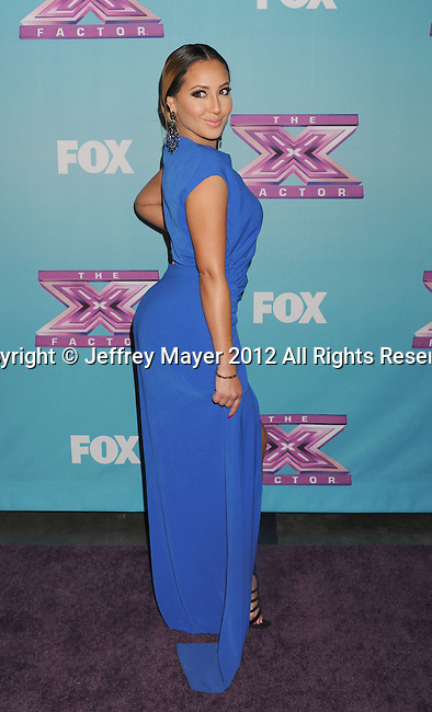 LOS ANGELES, CA - DECEMBER 20: Adriennne Bailon attends the FOX's 'The X Factor' Season Finale - Night 2 at CBS Televison City on December 20, 2012 in Los Angeles, California.