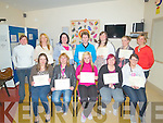 "CERTS: Pictured are a group of students, who completed a five week course, ?The peer support Education Programme"" and received their Certs at Ballyspillane Community and family resource centre, Killarney on Friday evening last, front l-r: Aisling Sugrue, Marian McCabe, Michelle Stack, Jean Lenihan and Deirdre O'Connor. Back l-r: Margaret O'Donoghue (tutor) Regina and Maura Mannix with Katie O'Grady, Pia Buckley, Anita Sheahan and Miriam Mulhall (tutor). Missing were Stacey O'Mahony and Carmel Drumm."