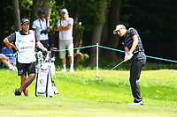 Benjamin Hebert chips onto the 3rd green during the BMW PGA Golf Championship at Wentworth Golf Course, Wentworth Drive, Virginia Water, England on 25 May 2017. Photo by Steve McCarthy/PRiME Media Images.