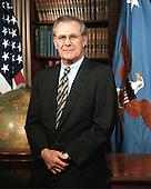 Informal portrait of United States Secretary of Defense Donald H. Rumsfeld taken in the Pentagon in Washington, DC on February 15, 2001.       <br /> Mandatory Credit: Scott Davis / U.S. Army via CNP