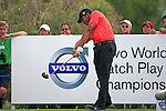 Jhonattan Vegas (VEN) tees off on the 18th tee during the afternoon session on Day 2 of the Volvo World Match Play Championship in Finca Cortesin, Casares, Spain, 20th May 2011. (Photo Eoin Clarke/Golffile 2011)