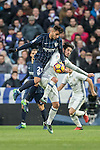 Isco (r) of Real Madrid fights for the ball with Luis Munoz of Malaga CF during their La Liga 2016-17 match between Real Madrid and Malaga CF at the Estadio Santiago Bernabéu on 21 January 2017 in Madrid, Spain. Photo by Diego Gonzalez Souto / Power Sport Images