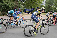 Jens Keukeleire (BEL/Orica Scott) fetching his musette<br /> <br /> 2017 National Championships Belgium - Elite Men - Road Race (NC)<br /> 1 Day Race: Antwerpen &gt; Antwerpen (233km)