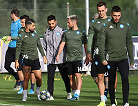 4th November 2019; Castelvolturno training center , Campania, Italy; UEFA Champions League Group Stage Football, Napoli versus Red Bull Salzburg, Napoli Training:Lorenzo Insigne of Naples, Dries Mertens of naples - Editorial Use