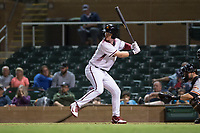 Salt River Rafters first baseman Pavin Smith (44), of the Arizona Diamondbacks organization, at bat during an Arizona Fall League game against the Scottsdale Scorpions at Salt River Fields at Talking Stick on October 11, 2018 in Scottsdale, Arizona. Salt River defeated Scottsdale 7-6. (Zachary Lucy/Four Seam Images)