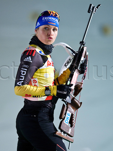06.01.2012, Oberhof, Germany. The IBU Biathlon world cup 7.5km sprint race. Image shows Magdalena Neuner ger